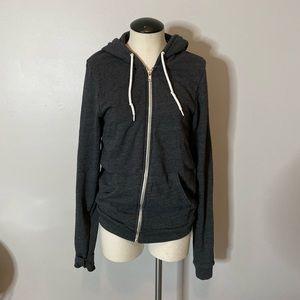 American Apparel Flex Fleece Zip Hoodie Sweatshirt